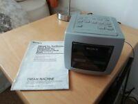 Sony Dream Machine cube clock radio alarm