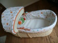 My Jungle Family Moses Basket by Mothercare
