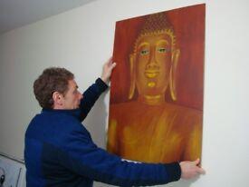 Buddha painting, original artwork- hand painted. 24 x 34