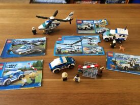 LEGO City Police Patrol car, Helicopter and dog unit