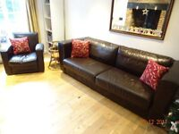 Used Leather BoConcept 3 seater sofa and armchair. Excellent condition. Must collect by 18.12.17.