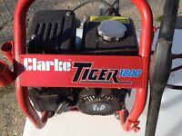 Clarke Petrol Pressure Washer & Tank (As new)