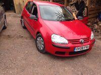 VW Golf MK5 2.0 SDI in Red
