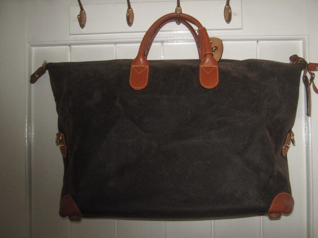 Bric S Designer Brown Leather Travel Overnight Bag New Unused In Wilmslow Cheshire Gumtree