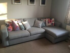 Beautful Light Grey Corner Sofa - Perfect Conditon!