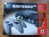 Nintendo 64 boxed console. N64