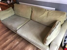 3 piece suite consisting of 3 & 2 seater and matching futon