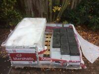 Marshall's Drivesys Rivenstone block pavers - Basalt.