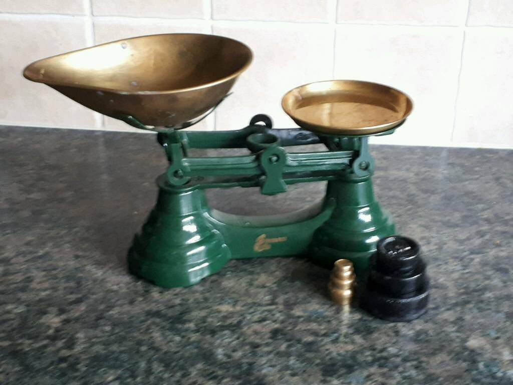 Kitchen Scales and Weights (SOLD)