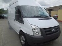 2009 ford transit 350 m/w/base h/roof with towbar full service history ex ministry of defence