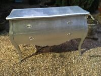 Large Silver Two Draw Chest
