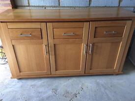 Danish wooden wall dresser/unit/sideboard
