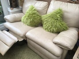 Recliner sofa and two armchairs