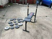 York Weight Lifting Bench And Weights