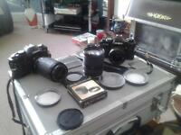 35mm cameras and lenses