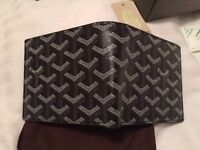 Men's black Goyard wallet
