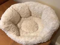 Beautiful cream cat bed
