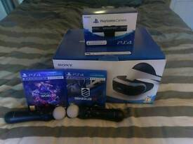 PSVR with camera v2, 2 games and 2 move controllers