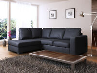 UK DELIVERY *SALE PRICE SOFAS: Westpoint corner sofa, available in black, brown,cream or red