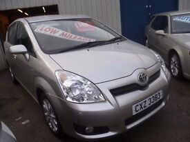 Toyota Corolla VERSO SR,7 seat MPV,1 previous owner,2 keys,runs and drives as new,low mileage 41,000