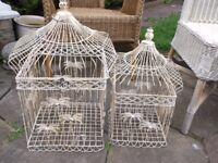 2 VINTAGE ORNATE BIRDCAGES