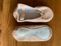 Child's leather ballet shoes