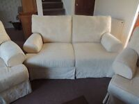 John Lewis sofa and two armchairs, excellent condition