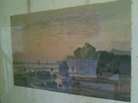 Old signed copy of a picture by WH Vernon