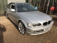 BMW e46 coupe silver breaking for parts / spares