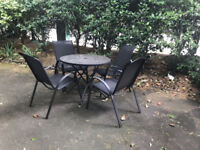 outdoor table + 4 chairs