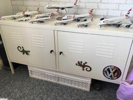 Metal locker tv stand garage storage