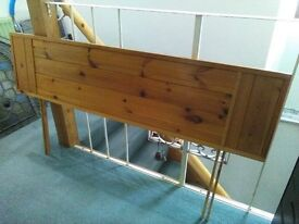 Reduced price - PINE HEADBOARD FOR DOUBLE BED