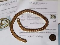 """207gr...9ct WITH DOCUMENTS GOLD CHAIN, LENGTH 22"""", ONE YEAR OLD"""