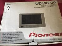 Pioneer in car tv screen, new, with fitting kit for headrest
