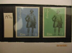 10 complete sets 1974 Ireland Europa SG 337 338 - mint, never hinged, immaculate