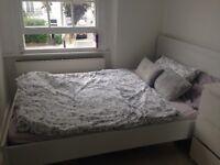 Ikea Brusali double bedframe with mattress