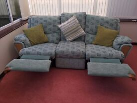reclining 3 seater sofa plus reclining chair. Both in very good condition