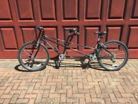 Almost new Tandem bike and girls bike for sale