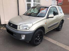 Toyota RAV4 1.8 VVT-i NV - 2003, 3 Owners, MOT September 2018, New Clutch, x2 Keys, £995