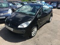 2008/58 MITSUBISHI COLT CZC 3 1.5 CABRIOLET,METALLIC BLACK,BLACK LEATHER INTERIOR,LOW MILEAGE