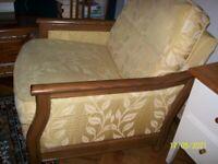 Bergere chair gold colour