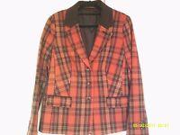 Lovely tartan EWM Isle jacket / blazer. VGC. Size 16.