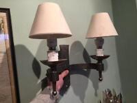 4 x Cast Iron Wall Light Fittings