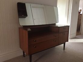 Vintage Dressing Table Complete With Mirror