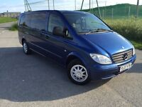 MERCEDES VITO 9 SEATER. 124k miles. 2007 automatic. FULL SERVICE HISTORY. 3 owners from new £7000