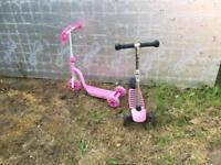 Two child's scooters
