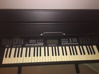 Gear4Music MK-933 Black Electric Keyboard with Pedal