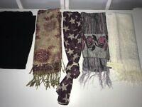 Bundle of womans scarfs/ shawls / sarongs