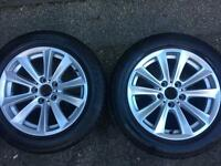 Genuine BMW F10, 4x17 Alloy Wheels and tyres