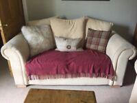 Cream beige 3 seater and 2 seater sofa suite